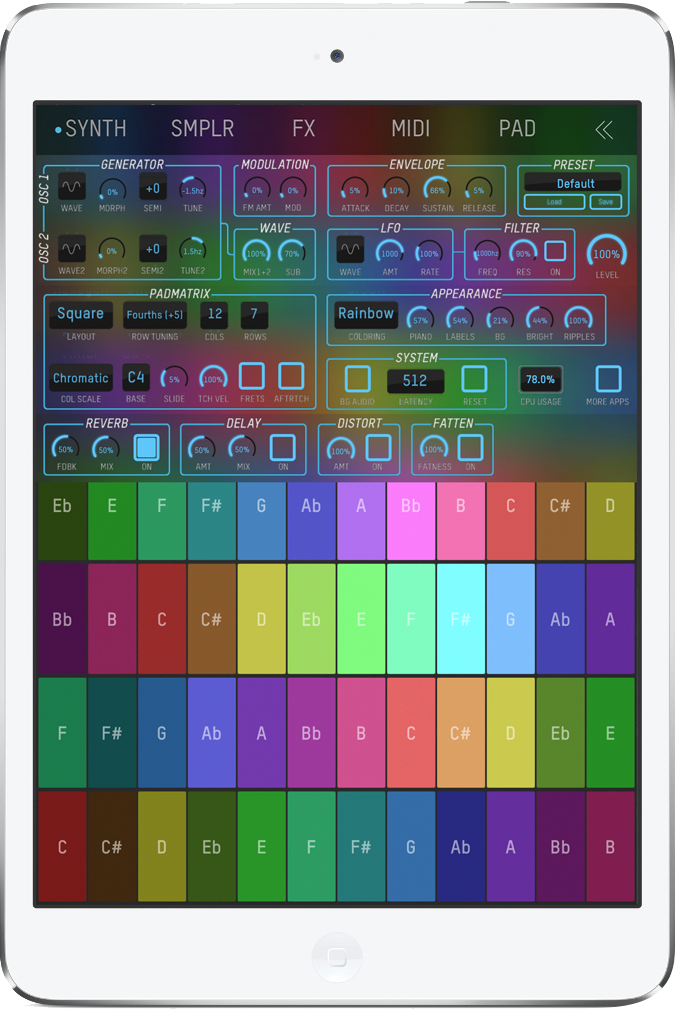 expressionPad – A continuous, multi-touch music controller